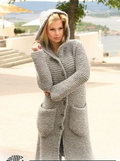 MADE TO ORDER MODEL Womens Hand Knit Hooded Coat. ============================================= - MANY YEARS of KNITTING EXPERIENCE - HUNDREDS of SATISFIED CUSTOMERS. - PREMIUM QUALITY YARNS - ORDER WILL BE DONE IN 3-4 WEEKS. - ANY SIZE and ANY COLOR.(SEE PICTURES) - BUTT...