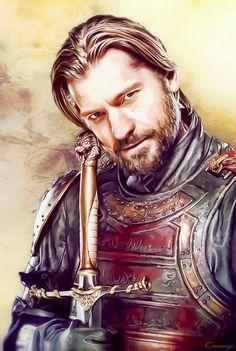 Game of thrones: Jaime Lannister Jaime Lannister, Jaime And Brienne, Cersei Lannister, Game Of Thrones Artwork, Game Of Thrones Tv, Familia Lannister, Casterly Rock, Eddard Stark, Game Of Thones