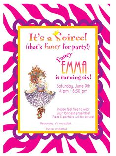 fancy nancy spa party - Google Search