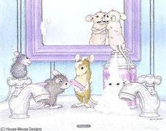 """Monica, Mudpie, Maxwell, Muzzy and Amanda from House-Mouse Designs® featured on the The Daily Squeek® for April 21st, 2013. Click on the image to see it on a bunch of really """"Mice"""" products."""