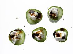 cucumber with cream cheese and balsamic - Low Calorie Snacks - Redbook