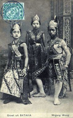 1915 Indonesia - Java Wayang Dancers Photo Vintage, Vintage Photos, Black History Books, Indonesian Art, East Indies, Grand Bazaar, Koh Tao, Borneo, World Cultures