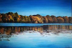 Acrylic painting  #landscape #Tisza #Hungary #canvas #acrylic #art #painting