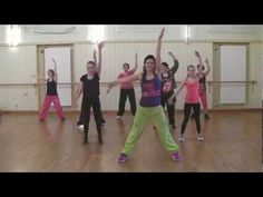 A zumba class with a lot of energy!!  Full 25 minute class!