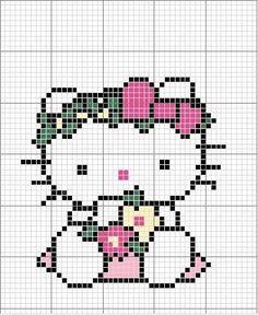 Hello Kitty punto de cruz