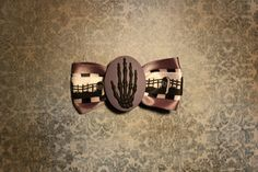 Skellington Death Hand  Black by RiotGearHairBows on Etsy, $8.00
