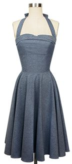 Trashy Diva Trixie Dress blue chambray