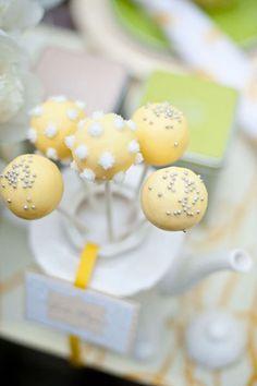 Yellow wedding cake pops - Verve Photo Co.