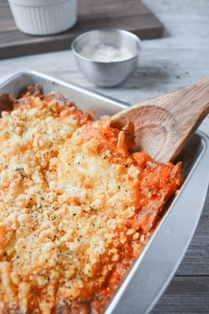 This Keto Chicken Parmesan Casserole is a super easy dinner recipe that's bursting with savory, flavorful, cheesy, tomatoey flavor!
