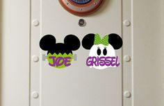 Personalized Halloween Disney Cruise Magnet  Mickey by nickandjojo