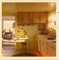 the kitchen that had since been christened as granny's. lou sits and reads the first letter. Aesthetic Rooms, Mellow Yellow, Interiores Design, My Room, Future House, Interior And Exterior, Living Spaces, Sweet Home, Kitchen Cabinets