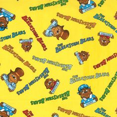 The Berenstain Bears Fabric Welcome To Bear Country Quilt Fabric Out Of Print Premium Cotton by SewCountryAndGifts on Etsy