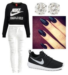 """""""My nike outwear"""" by flawless-baddie ❤ liked on Polyvore"""