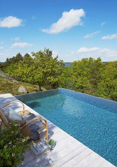 Swedish Home Features Infinity Pool