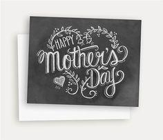 Moederdag kaart Happy Mother's Day kunst van het door LilyandVal