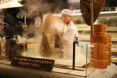 Kyoto Best Cheap Eats: Marugame Udon Noodle Restaurant 京都 丸亀製麺 The Noodle Boss Boiling Sanuki Udon