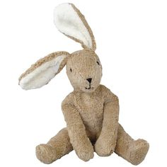 Charming Brown Bunny Rabbit handmade in Germany. Organic cotton filled with pure lambswool. Stunningly beautiful! $49.95