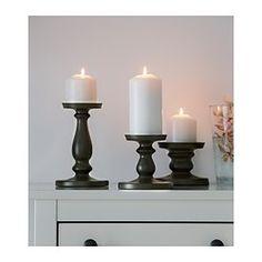 ЭРСЕТТА Подсвечник для формовой свечи, серый - IKEA
