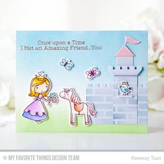 Handmade card from Keeway Tsao featuring Castle Die-namics #mftstamps