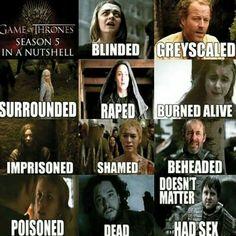 Status as of Season 5!