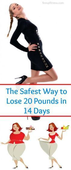 This is the safest way to lose 20 pounds in 14 days