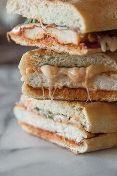 Hey there ooey gooey beauty! Chicken Parmesan Panini #tailgating