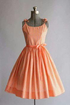 50's gingham dress
