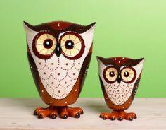 Lg Dol Owl w/Spring Figurine. I got the large owl for Christmas!