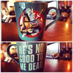Oh I've been waiting for these mugs... #BrewbaFett #MugLife #StarWars #BobaFett