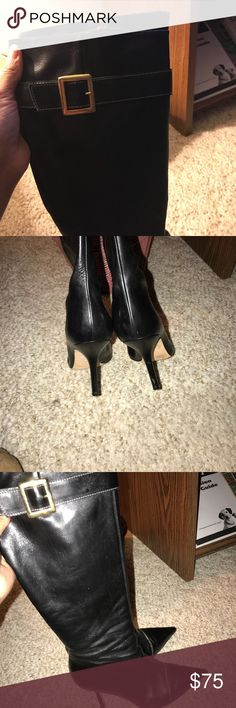 Kate Spade boots Black leather Kate Spade Boots kate spade Shoes Heeled Boots