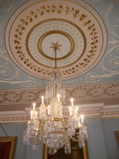 Ceiling, Drawing Room, Attingham Park and Estate, Shropshire