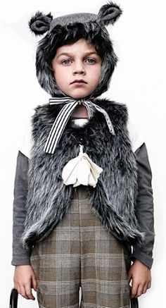 So, I know it's a little kids costume, but I liked the idea of the fur waistcoat.