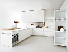 minimalistische weisse küche essecke holz elmar kompakt idee