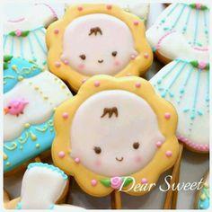 Baby's face cookie // Dear Sweet