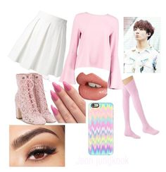 """""""Jeon jungkook"""" by sethguine on Polyvore featuring Laurence Dacade, Boutique Moschino, Casetify, Boohoo, Charlotte Tilbury and Lancôme"""