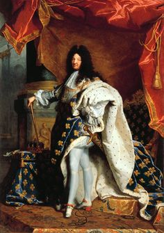 Portrait of Louis XIV, known as the Sun King, by Hyacinthe Rigaud, Château de Versailles à Versailles, Île-de-France
