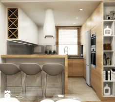 Aranżacje wnętrz - Kuchnia: Kuchnia - MONOstudio. Przeglądaj, dodawaj i zapisuj najlepsze zdjęcia, pomysły i inspiracje designerskie. W bazie mamy już prawie milion fotografii!