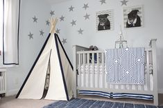 Navy Blue, Gray and White Nursery - Project Nursery