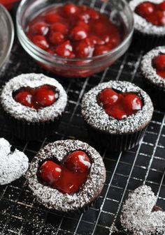 Cherry Cordial Valentine's Day Cupcakes. #ValentinesDay