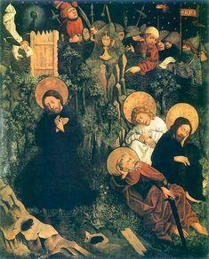 Modlitwa w Ogrójcu z poliptyka augustiańskiego, XVw, gotyk, autor Haberschrack