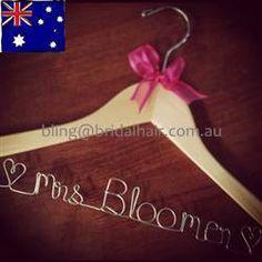Personalised Coat Hanger Bridal Hanger Custom Made by BridalBlings, $30.00