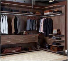 Man Closet.....courtesy of California Closets #closetorganization