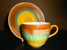 Extremely Rare Shelley Tulip Shape Cup & Saucer