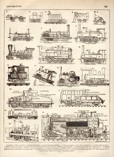 Steam Train Antique Print 1897 Lithograph Steam by Craftissimo, €12.00