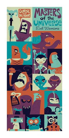 Evil Warriors by Dave Perillo, via Behance