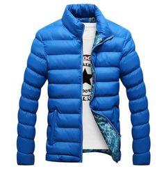d17f4fe21f7 Moderní pánská zimní bunda modrá – Velikost L Na tento produkt se vztahuje  nejen zajímavá sleva