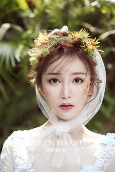 Hairdo Wedding, Wedding Girl, Bridal Makeup, Wedding Makeup, Diy Hairstyles, Wedding Hairstyles, Beauty Art, Hair Beauty, Korean Makeup Look