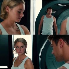 How can them just looking at each other be so powerful and amazing? Divergent Four, Tris And Tobias, Tris And Four, Divergent Trilogy, Divergent Insurgent Allegiant, Face Tightening, Tragic Love Stories, Theo James, We Fall In Love