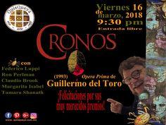 """Desde QuisQueya eco-arte-café, felicitamos al Maestro Guillermo del Toro por su trayectoria de más de 25 años. Así que viernes 16 de marzo, 2018 proyectaremos a las 9:30 pm """"Cronos"""" (1993); para refrescarnos la memoria con su Ópera Prima y con un reparto de lujo. ¡Nos encanta!"""
