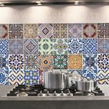 Hliníková samolepka do kuchyně - Azulejos (47x65cm)